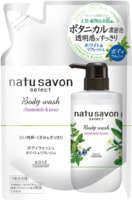 """Kose Cosmeport """"Softymo Natu Savon Body Wash Refresh"""" Жидкое мыло для тела освежающее, с натуральными ингредиентами, с ароматом ромашки и груши, сменная упаковка, 360 мл."""