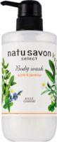 """Kose Cosmeport """"Softymo Natu Savon Body Wash Moist"""" Жидкое мыло для тела увлажняющее, с натуральными ингредиентами, с ароматом яблока и жасмина, 500 мл."""