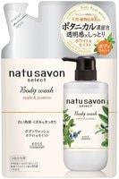 """Kose Cosmeport """"Softymo Natu Savon Body Wash Moist"""" Жидкое мыло для тела увлажняющее, с натуральными ингредиентами, с ароматом яблока и жасмина, сменная упаковка, 360 мл."""