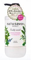 """Kose Cosmeport """"Softymo Natu Savon Body Wash Rich Moist"""" Жидкое мыло для тела увлажняющее, с натуральными ингредиентами, с ароматом розы и магнолии, 500 мл."""