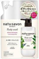 """Kose Cosmeport """"Softymo Natu Savon Body Wash Rich Moist"""" Жидкое мыло для тела увлажняющее, с натуральными ингредиентами, с ароматом розы и магнолии, 360 мл."""