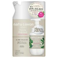 """Kose Cosmeport """"Softymo Natu Savon Foam Body Wash"""" Мыло-пенка для тела увлажняющее, с растительными ингредиентами, с ароматом персика, розы и лилии, сменная упаковка, 350 мл."""