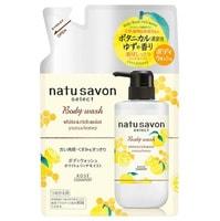 """Kose Cosmeport """"Softymo Natu Savon Body Wash Yuzu & Honey"""" Жидкое мыло для тела, с натуральными ингредиентами, с ароматом юдзу и меда, сменная упаковка, 360 мл."""