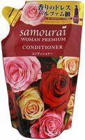 """SPR Japan """"Samourai Woman Premium"""" Кондиционер для волос восстанавливающий и увлажняющий, с великолепным ароматом роз, сменная упаковка, 370 мл."""
