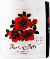 """Shikoku Tokushi """"Just Relax and Softness Black Rose"""" Парфюмированная туалетная бумага, 2-х слойная, с элегантным ароматом черной розы, 4 рулона по 30 м."""