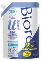 """KAO """"Biore U"""" Увлажняющее жидкое мыло для тела, аромат свежести, запасной блок, 750 мл."""
