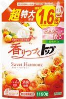 """Lion """"Top Sweet Harmony - Сладкая гармония"""" Жидкое средство для стирки белья, с нежным ароматом цветов и фруктов, сменная упаковка с крышкой, 1160 г."""