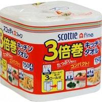 """Crecia """"Scottie"""" Бумажные полотенца для кухни повышенной плотности, 4 рулона х 150 листов."""