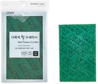 "SC ""Multi-Purpose Scrubber"" Многофункциональная абразивная губка-лист, жёсткая, 15 х 23 х 0,8 см, 1 шт."