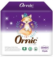 """SY """"Ornic Fino Overnight"""" Классические гигиенические прокладки, с крылышками, Макси, 34 см, 10 шт."""