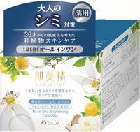 """Kracie """"Hadabisei"""" Крем-гель для лица осветляющий c экстрактами японских растений, 100 гр."""