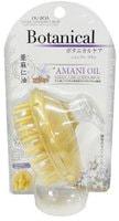 """Ikemoto """"Botanical Amani Oil"""" Массажная щётка для мытья волос, для ухода за поврежденными волосами, с маслом льна, 1 шт."""