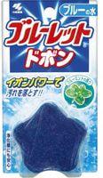"""Kobayashi """"Bluelet Dobon Double Blue Mint"""" Таблетка для бачка унитаза очищающая и дезодорирующая, с эффектом окрашивания воды, с ароматом мяты, 60 г."""