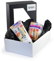 """Sana """"Soy Milk"""" Подарочный набор """"Вечерний уход с изофлавонами сои"""": Пенка для умывания и снятия макияжа увлажняющая, 150 г. + Крем ночной питательный, 50 г."""