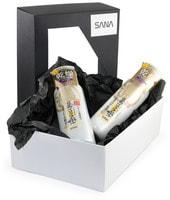"""Sana """"Soy Milk"""" Подарочный набор """"Обновление и увлажнение с ретинолом"""": Увлажняющий и подтягивающий лосьон, 200 мл. + Увлажняющее и подтягивающее молочко, 150 мл."""
