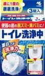 KOBAYASHI Таблетки для дезинфекции, удаления загрязнений и запаха в сливном отверстии унитаза, 3 шт.
