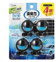 ST Освежитель воздуха для автомобильного кондиционера, с ароматом морской свежести, 4 шт. х 3,2 мл.