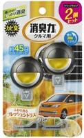 ST Освежитель воздуха для автомобильного кондиционера, с ароматом свежих цитрусов, 2 шт. х 3,2 мл.