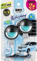 ST Освежитель воздуха для автомобильного кондиционера, с освежающим ароматом зелени и сквоша, 2 шт. х 3,2 мл.