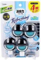 ST Освежитель воздуха для автомобильного кондиционера, с освежающим ароматом зелени и сквоша, 4 шт. х 3,2 мл.