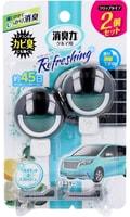 ST Освежитель воздуха для автомобильного кондиционера, с освежающим ароматом бергамота и сквоша, 2 шт. х 3,2 мл.