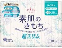 """Daio Paper Japan """"Elis Ultra Slim Normal++"""" Ультратонкие особомягкие гигиенические прокладки, c крылышками, """"Нормал++"""", 25 см, 18 шт."""