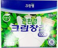 Clean Wrap Перчатки одноразовые БИО-полиэтиленовые, плотные, размер М, 22,5 х 28 см, 100 шт.