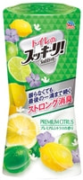 """Earth Biochemical """"Sukki-ri!"""" Жидкий дезодорант-ароматизатор для туалета, с фруктовым ароматом, """"Премиальный цитрус"""", 400 мл."""