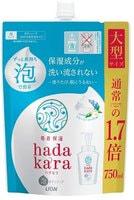 """Lion """"Hadakara"""" Бархатное увлажняющее мыло-пенка для тела с ароматом кремового мыла, сменная упаковка, 750 мл."""