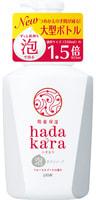 """Lion """"Hadakara"""" Бархатное увлажняющее мыло-пенка для тела с ароматом букета цветов, дозатор, 825 мл."""