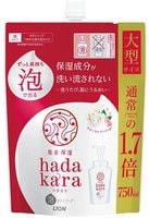 """Lion """"Hadakara"""" Бархатное увлажняющее мыло-пенка для тела с ароматом букета цветов, сменная упаковка, 750 мл."""