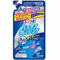"""Lion """"Look Plus"""" Чистящее средство для ванной комнаты быстрого действия, аромат трав и мяты + ионы серебра, сменная упаковка, 450 мл."""
