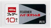 Feather Сменные двухсторонние лезвия с платиной, 10 шт.