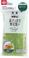 LEC Тонкая губка для мытья овощей, 19х13х0,5 см, 1 шт.