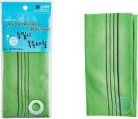 "Sungbo Cleamy ""Viscose Back Bath Towel"" Мочалка для тела из вискозы, жесткая, массажная, 28 х 90 см, 1 шт."