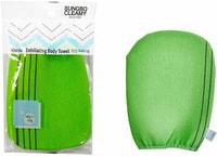 """Sungbo Cleamy """"Viscose Glove Bath Towel"""" Мочалка-варежка для тела из вискозы с подкладом на резинке, жесткая, массажная, 12 х 17 см, 1 шт."""