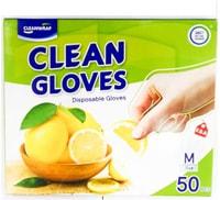 Clean Wrap Перчатки одноразовые полиэтиленовые, тонкие, размер М, 22,5х28 см, 50 шт.