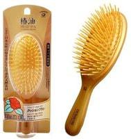 "Ikemoto ""Head Spa Tsubaki Oil Cushion Brush"" Щетка для волос с маслом камелии, 1 шт."