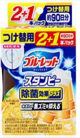 """Kobayashi """"Bluelet Stampy Orange"""" Дезодорирующий очиститель-цветок для туалетов, с ароматом апельсина, запасной блок, 28 гр.х 3 шт."""