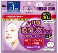 "Kose Cosmeport ""Clear Turn Firmness Rich Lift Mask EX"" Тканевая маска для лица, с лифтинг-эффектом, 40 шт."