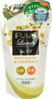 """Daiichi """"Funs"""" Кондиционер для белья с антибактериальным эффектом, с ароматом белой розы и жасмина, сменная упаковка, 480 мл."""