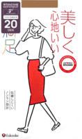 "Fukuske Corporation ""Manzoku"" Колготки женские 20 ден, нюдовый беж, размер S-M (2-3)."
