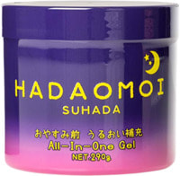 """Akari """"Hadaomoi Suhada"""" Ночной увлажняющий и питательный гель для лица и тела, с концентратом стволовых клеток человека, 290 г."""