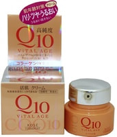 "Kose Cosmeport ""Vital Age Q10 Cream"" Увлажняющий крем для лица, с коэнзимом Q10 и морским коллагеном, 40 г."