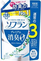 "Lion ""Soflan Premium White Herb Aroma"" Кондиционер для белья с ароматом цветущего луга, мягкая упаковка с колпачком, 1260 мл."