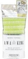 """Yokozuna """"Awa King"""" Мочалка-полотенце для тела средней жёсткости, светло-зелёная, 28Х100 см."""