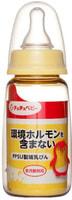 Chu Chu Baby Пластиковая бутылочка для кормления с силиконовой соской, с узким горлышком, 150 мл.