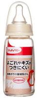 Chu Chu Baby Стеклянная бутылочка для кормления с силиконовой соской, с узким горлышком, 150 мл.