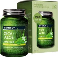 """Consly """"Cica & Aloe All-in-One Ampoule"""" Многофункциональная успокаивающая ампульная сыворотка с центеллой азиатской и алоэ, 250 мл."""