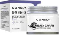 """Consly """"Black Caviar Anti-Wrinkle Cream"""" Крем для лица против морщин, с экстрактом черной икры, 70 мл."""